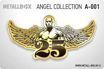 Номер на дверь METALLBOX ANGEL Collection, ангел, крылья